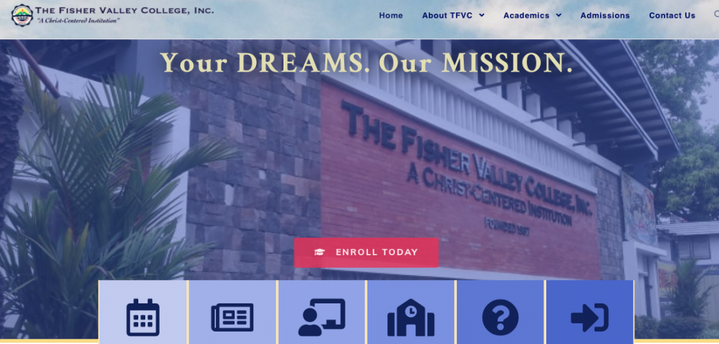TFVC's New Official Website: tfvc.edu.ph