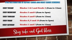 Distribution of Report and Merit Cards
